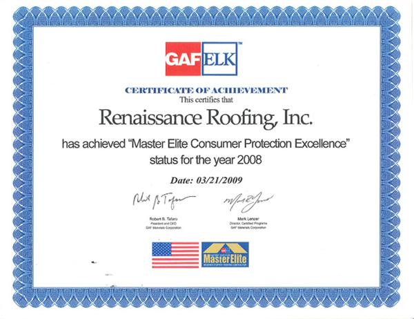 Gaf Master Elite Blog Renaissance Roofing