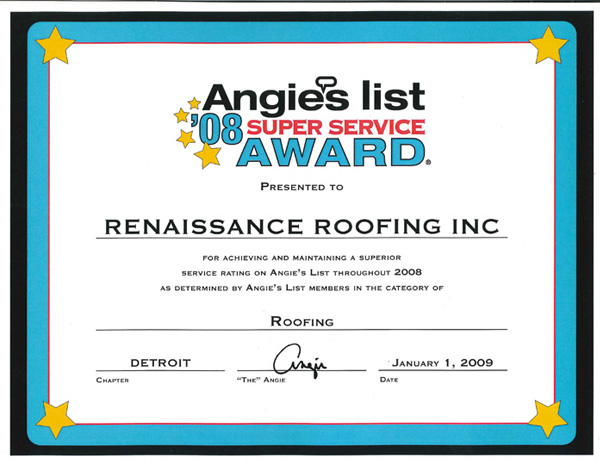 Angie S List Blog Renaissance Roofing