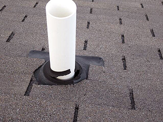 Roof Leak Repair Ann Arbor MI - Renaissance Roofing - Pipe-Flashing