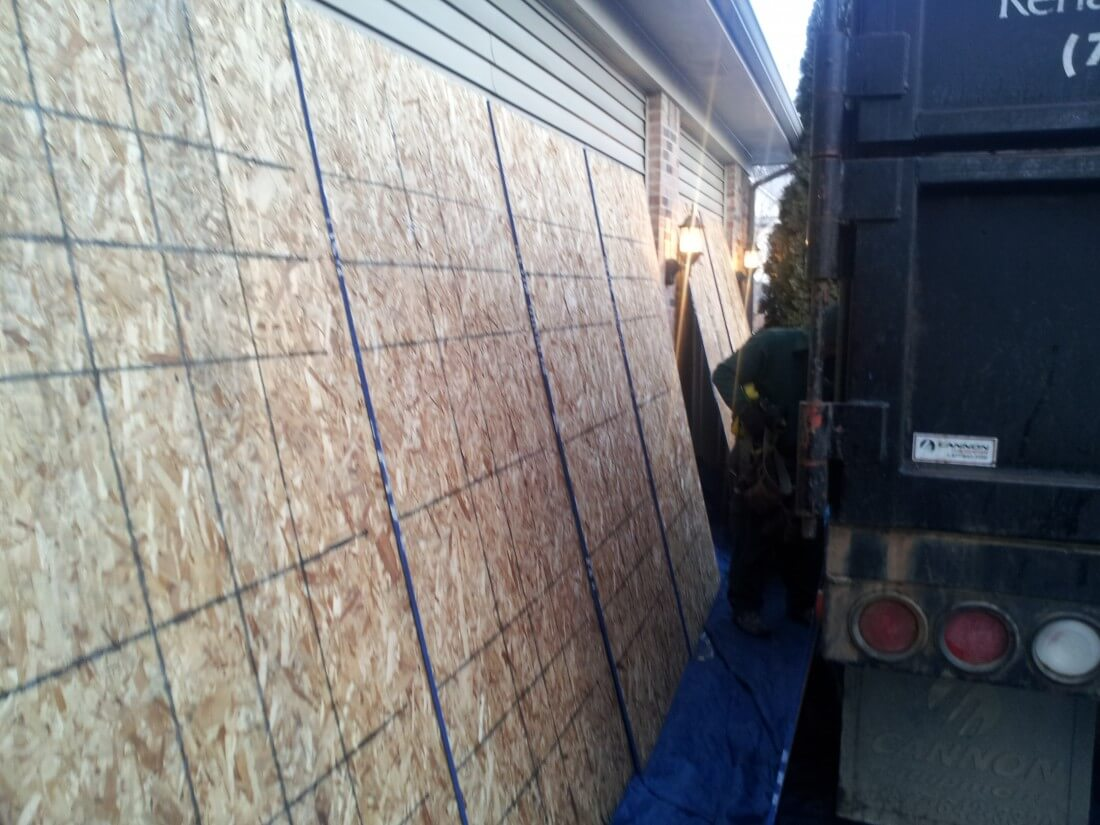Garage Door Protection. Roof Repair Ypsilanti MI ...