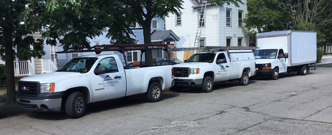 Monday in Downtown Ann Arbor - Blog - Renaissance Roofing - Trucks_AA
